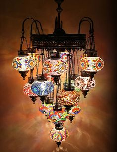 21 ball 110-230v  EXTRA LARGE Turkish Moroccan Hanging Glass Mosaic Chandelier Lamp Lighting on Etsy, $799.00