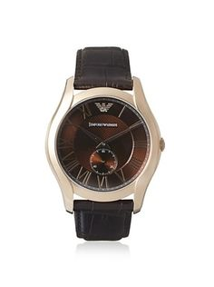 27% OFF Emporio Armani Men's AR1705 Classic Brown/Rose Leather Watch