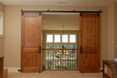 sarah at Northwest Hospitality blog gives info on how and where to order sliding barn doors