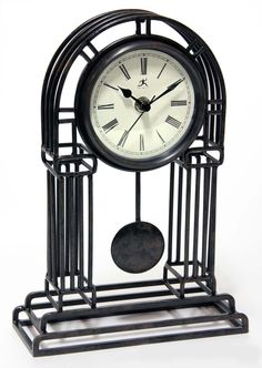 Cathedral table top clock by Infinity Instruments. #clock #decor #metal #traditional