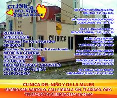Clinicas médicas en Tlaxiaco.
