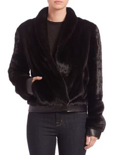 Bibhu Mohapatra - Mink Fur Jacket