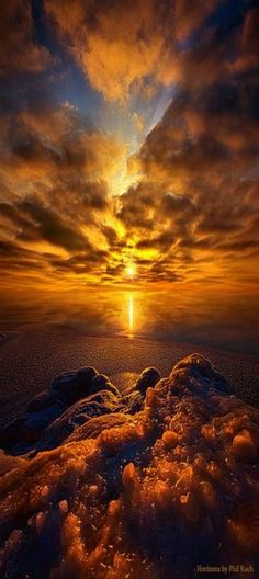 Take Hold of Me... beautiful sunset, Wisconsin by Phil Koch: