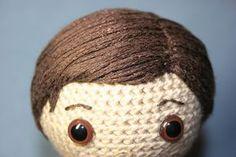 amigurumi crochet  hair tutorial