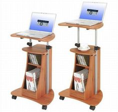 Rolling laptop station, perfect for physical exams. Exam tools could be stored below, with hooks/baskets/etc attached to flat back for gowns or other items.