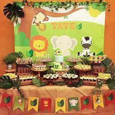 Safari Theme Birthday, Jungle Theme Parties, Wild One Birthday Party, Jungle Party, Baby 1st Birthday, Safari Party, Animal Birthday, Birthday Party Themes, Lion Baby Shower