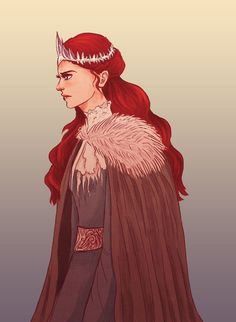 Queen in the North by cinnamonskittles, via deviantart
