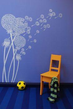 dandelion wall stencil