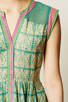 Rowan Shirtdress - anthropologie.com...love the colors and the attention to detail on the edges.
