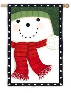 Thistwo sided Christmas houseflag offers two different images on either side for those of you who would like to have both Santa Claus and Frosty the Snowman at your home or business this Holiday sea