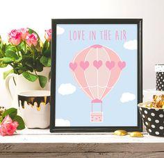 Love in the air Hot Air Balloon Pink  Printable Wall Art #print #printable #printable_art #art #arts #artwork #arte #nursery #nursery_decor #decor #homedecor #wallart #artist #illustration #love #love_print #love_in_the_air #etsy #etsy_shop #etsy_seller #prints #digital_art #digital_drawing #drawing #draw #illustration #pink #blue #sky #balloon #decor #love_print #pinterest #frame #flowers #pastel #pastel_colors #art_lover #good_vibes #good_quote #quote #quote_print #nursery_wall_art #girls
