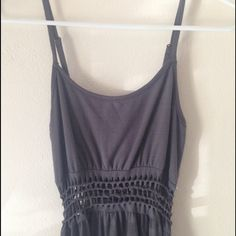 Grey dress with unique mid Super soft and comfortable, can be worn so many places . Dresses High Low
