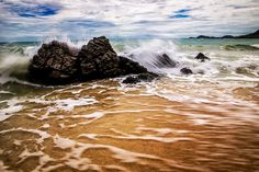 Boulders in the sea just outside the coast of Rayong in Thailand Stefan Johansson, Rayong, Bouldering, Thailand, Coast, Waves, Sea, Outdoor, Outdoors