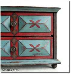 Folk Art Inspired Country Painted Furniture