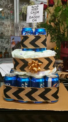 Baby shower father beer diaper cake gift for dad