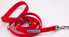 Hund: Leinen - Sonstige - Sportline von stitchbully - Hunde Leine uni rot - ein…