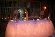 Custom Fantasy Table Skirt. String lights underneath!!