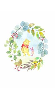 Winnie The Pooh Gif, Winnie The Pooh Drawing, Winnie The Pooh Birthday, Winnie The Pooh Friends, Cute Patterns Wallpaper, Cute Disney Wallpaper, Wallpaper Iphone Disney, Bear Wallpaper, Iphone Background Wallpaper