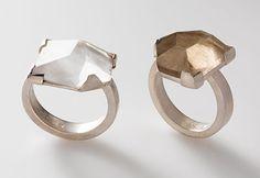 Regine Schwarzer, Australia  Brooches: Untitled 2009  sterling silver 18ct gold, patinated nickel silver