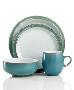 Denby Dinnerware, Azure 4-Piece Place Setting - Casual Dinnerware - Dining & Entertaining - Macy's