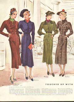 A quartet of sophisticated 1930s autumn looks.