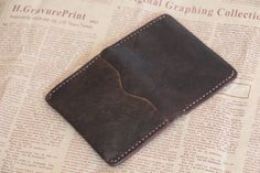 men's leather wallet distressed leather wallet by abbycraftshop