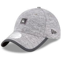 8db316255b4 Women s Miami Marlins New Era Gray Trimflect 9TWENTY Adjustable Hat