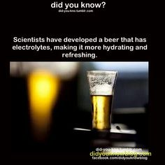 Electrolytes- A refreshing beer during a move is as sweet as it gets!