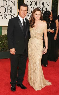 Josh Brolin + Diane Lane 2012 Golden Globes #celebrities #celebrityfashion #redcarpet