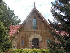 Beautiful Catholic Church, Estes Park, CO  www/carolynmerkord.com  #churches #Colorado