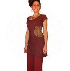 Dresses - Organic cotton and Hemp dress with Mandala print- Handmade and dyed to order using Organic cotton and Hemp jersey by MysterySchool on Etsy https://www.etsy.com/listing/217585183/dresses-organic-cotton-and-hemp-dress
