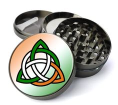 Irish Celtic Knot Extra Large 5 Piece Spice & Herb Grinder With Microfine Screen