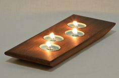 Old Growth Redwood Candle Holder by HumboldtHardware on Etsy, $35.00