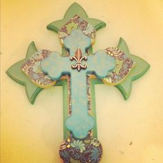 Decorative wooden stacked cross by DecorAddict8 on Etsy, $45.00