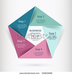 Vector infographic. Template for diagram, graph, presentation and chart. Business concept with 5 options, parts, steps or processes.