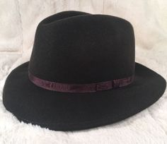 """New Country Gentleman """"WILTON"""" Men's Hat Fedora 100% Wool Brown Medium"""