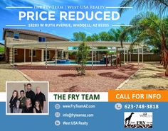 """PRICE REDUCED on this """"Recently Remodeled Waddell Upgraded Home""""   The waterfall grotto pool & 12-jet hot tub are surrounded by a Pergola-covered walkway & patio for ENDLESS entertaining.   Reach out and find out how this could be your home today. CALL 623-748-3818 or visit us at www.FryTeamAZ.com   #PriceReduced #ResidentialPropertyForSale #Residential #HomeForSale #RuthAvenue #Waddell #AZ #RealEstate #TheFryTeam #HomeBuying #HomeSelling #WestUSARealty"""