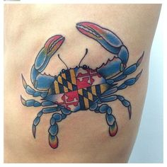 Maryland blue crab on the ribs by Vic.