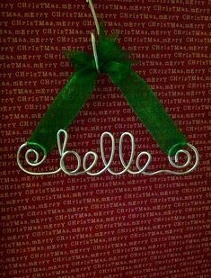 Personalized Wire Name Ornament