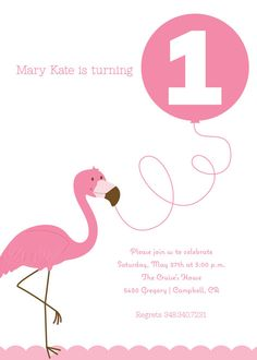 Pink flamingo with a super brightly colored balloon? Maybe two balloons?