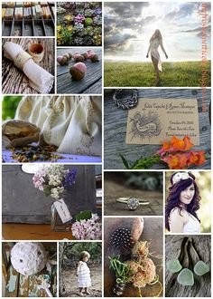 """Eco Pleasures"" - organic, eco-friendly wedding inspiration by The Frosted Petticoat"