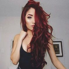 48 Stunning Fall Hair Color Ideas 2018 Trends hair color shades, - All About Hairstyles Red Ombre Hair, Dark Red Hair, Long Red Hair, Shades Of Red Hair, Color Shades, Beautiful Red Hair, Fall Hair Colors, Hair Colour, Ruby Red Hair Color