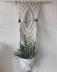 Macrame pared planta suspensión