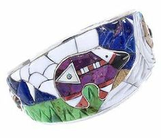 Multicolor And Silver 3-D Bear Jewelry Cuff Bracelet YS67665 SilverTribe. $1016.39