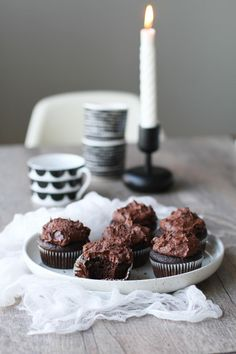 Beet and chocolate cupcakes with dark chocolate mascarpone frosting. Perfect for Halloween!