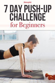Regardless of your goals, weight, or age, this 7 day Push-Up Challenge for Beginners can get you into the best shape of your life! 12 Week Workout, Best Workout Plan, Best At Home Workout, Workout Plan For Women, At Home Workout Plan, Workout Plans, Workout Schedule, Free Workout, Workout Women