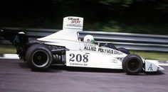 Lella Lombardi, during her first attempt to qualify for a World Championship race at Brands Hatch for the 1974 British Grand Prix in her privately entered Brabham-Ford BT42  unfortunately she didn't qualify, but came back a year later & performed quite well, finishing 6th in Montjuic Park to become the first (& so far only) woman to score World Championship points    I'm not sure of this, but I guess she's also the driver with the highest car number in the history of F1