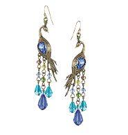 Peacock Pierced Earrings