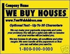 we buy houses postcards