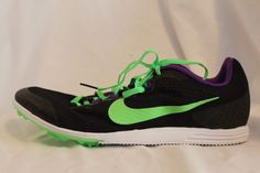 best website 3d913 d8a8c Nike Zoom Rival D 8 Distance Track Spikes Men s Flywire Black Green MSRP   85 NEW